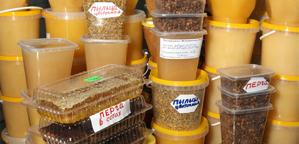 Мед на рижском рынке