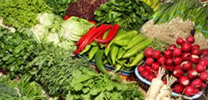 Овощи на рижском рынке